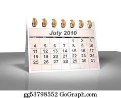 Weekday - July 2010 Desktop Calendar (3d).