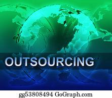 International-Trade - Outsourcing Globalization Illustration