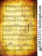 Sheet-Music - Musical Grunge Background
