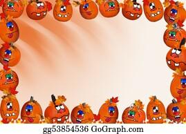 Orange-Border - Pumpkin Border