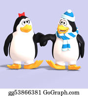 Growl - Penguin Couple In Love