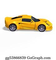 Race-Car - Yellow Fantasy Racing Car