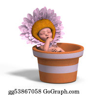 Flower-Pot - Baby In Flower Pot