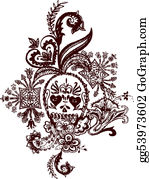Paisley-Art - Skull Paisley Rock Tattoo
