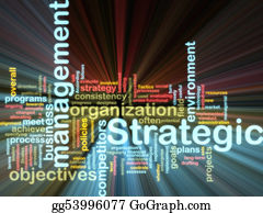 Management - Strategic Management Wordcloud Glowing