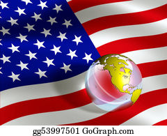 Globe-Flags - Usa Flag