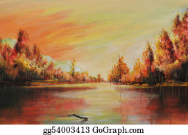 River - Oil Landscape