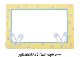 Safety-Pins-And-Diaper - Baby Yellow Patterned Border