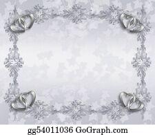Valentine-Border-Hearts-Frame - Wedding Invitation Elegant Border