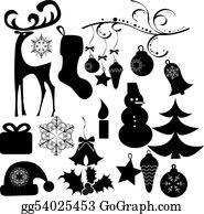 Reindeer-Christmas-Silhouettes - Christmas Clip Art