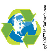 Plant-Life-Cycle - Recycle Symbol Surrounding The Globe
