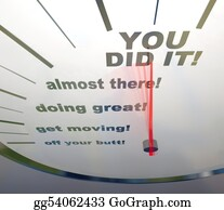 Spurs - Motivational Speedometer - You Did It