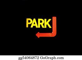 Car-Lot - Neon Parking Sign