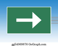 One-Direction-Road-Sign - Directional Highway Sign