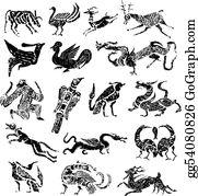 Royal-Lion - Ancient Stamp Animal