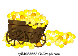 Ginkgo-Branch-With-Leaves-Vector - Pushcart And Leaves