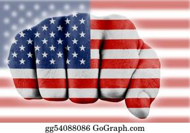 Fist - Fist With Us Flag