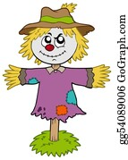 Scarecrow - Cartoon Scarecrow