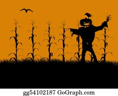 Scarecrow - Halloween Illustration Silhouette