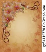 Orchid-Flower - Fall Autumn Orchids Floral Border