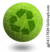 Ecological-Awareness - Planet Series Green Planet Ecology Recycle