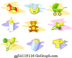 Safety-Pins-And-Diaper - Baby Icon Set
