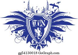 Royal-Lion - Heraldic Wing Shield Emblem