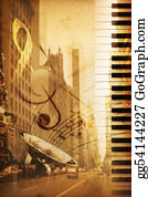 Music-Notes-On-Piano-Keyboard - Broadway