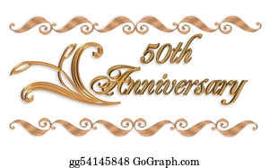 Valentine-Border-Hearts-Frame - Wedding Invitation Border Gold 50th