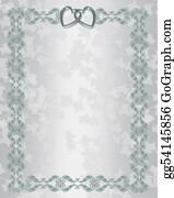 Valentine-Border-Hearts-Frame - Wedding Invitation Border Silver Blue