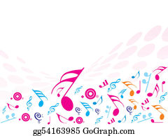 Musical-Notes - Vector Illustration Of Musical Notes. Ideal For Background!