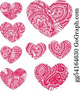 Paisley-Art - Paisley Heart Element