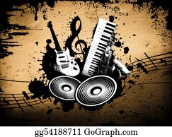 Music-Notes-On-Piano-Keyboard - Grunge Music