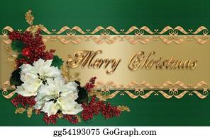 Merry-Christmas-Text - Christmas Card Elegant Greeting