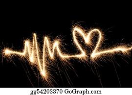 Flaming-Heart - Wave Heart Sparkler