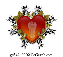Guardian-Angel - Guardian Angel Red Heart 3d Graphic