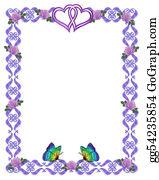 Valentine-Border-Hearts-Frame - Wedding Invitation Border Butterflies