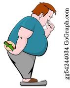 Fat - Fat Man With Burger