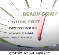 Inspirational - Speedometer - Reaching Your Goal
