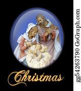 Christmas-Family - Nativity Christmas Scene Religious