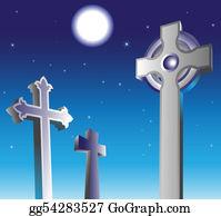 Headstone - Graveyard At Night