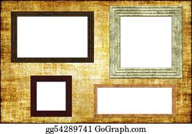 Herbs - Photo Frames On A Grunge Wall