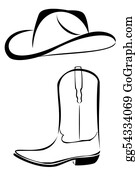 Cowboy-Boots - Tribal Cowboy Hat And Boot