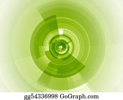 Rings - Lime Green Digital Focus