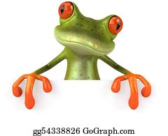 Tropical-Rainforest - Fun Frog With A Blank Sign