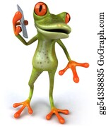 Tropical-Rainforest - Fun Frog With A Phone