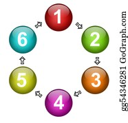 Six-Spheres-Balls-Illustration-With - Numbers Diagram