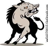 Boar - Wild Boar Attack Front On
