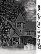 Headstone - Haunted House