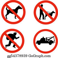 Tow-Truck - No Dogs,burglars And Towing Sign